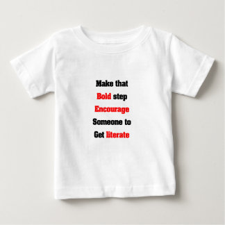 Support literacy baby T-Shirt