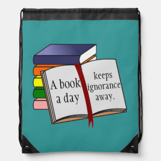 Support literacy Encourage reading Books Drawstring Backpack