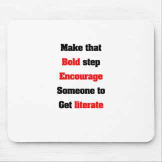 Support literacy mouse pad