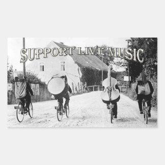 Support Live Music Rectangular Sticker