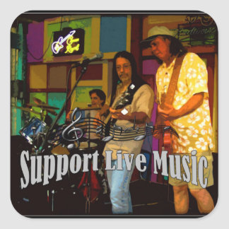Support Live Music Sticker