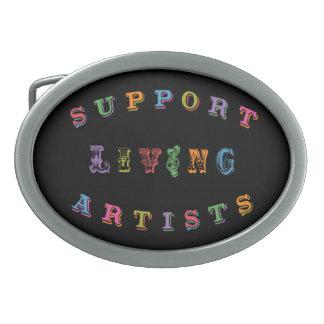 Support Living Artists Belt Buckle
