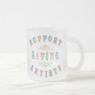 Support Living Artists Frosted Glass Coffee Mug