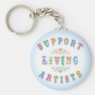 Support Living Artists Keychain