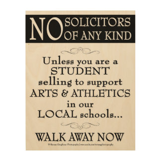 Support Local Arts & Athletics Only Wood Print
