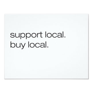 Support Local Buy Local 4.25x5.5 Paper Invitation Card