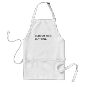 Support Local Buy Local Adult Apron