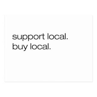 Support Local Buy Local Postcard