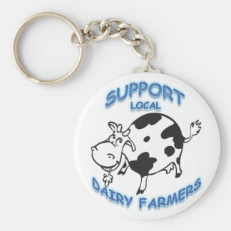 Support Local Dairy Farmers Keychain