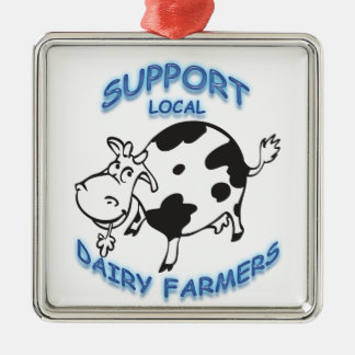 Support Local Dairy Farmers Metal Ornament