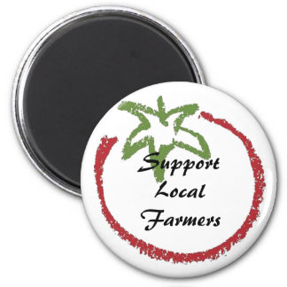 Support Local Farmers 2 Inch Round Magnet