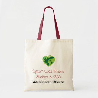Support local farmers budget tote bag