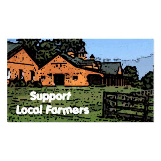 Support Local Farmers Business Card