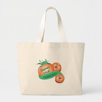 Support Local Farmers Jumbo Tote Bag