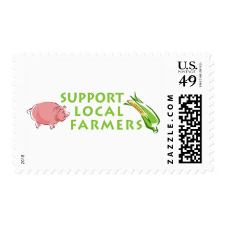 Support Local Farmers Postage