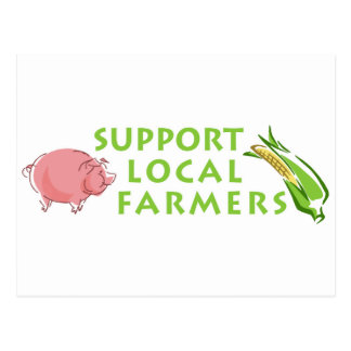 Support Local Farmers Postcard