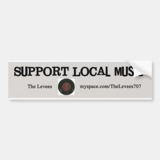Support Local Music! Bumper Sticker
