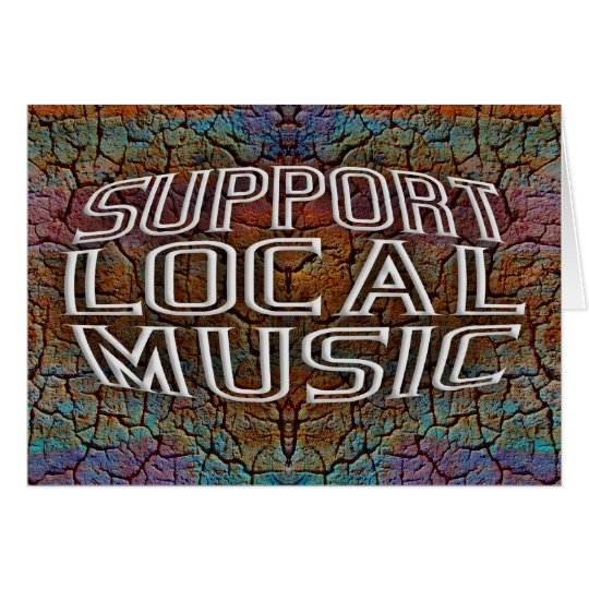 Support Local Music Card