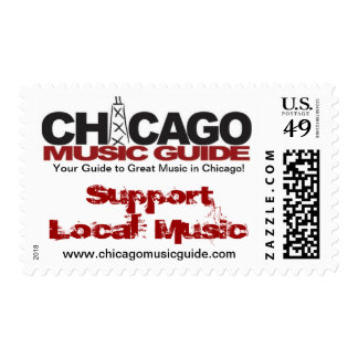 Support Local Music Design #1 Postage