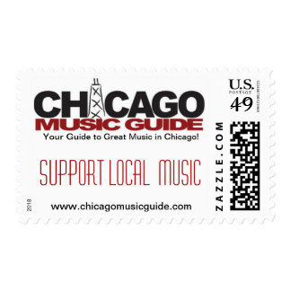 Support Local Music Design #2 Postage Stamps