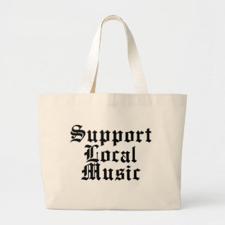 Support Local Music Jumbo Tote Bag