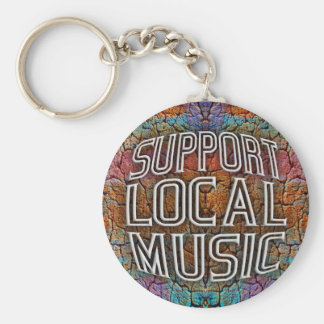Support Local Music Keychain