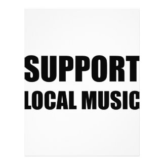 Support Local Music Letterhead