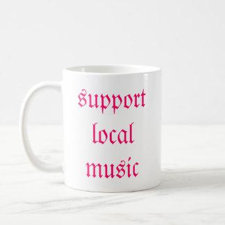 support local music classic white coffee mug