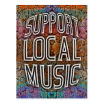 Support Local Music Post Card