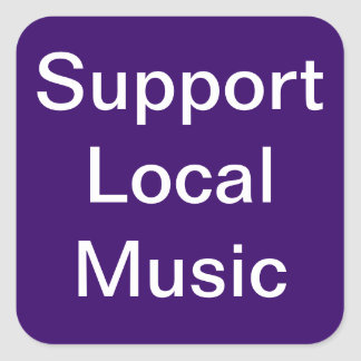 Support Local Music Purple Stickers