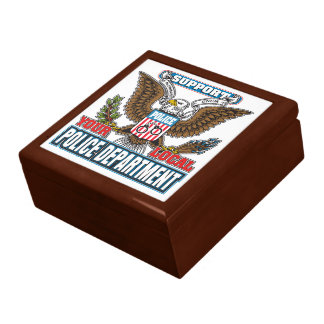 Support Local Police Jewelry Box