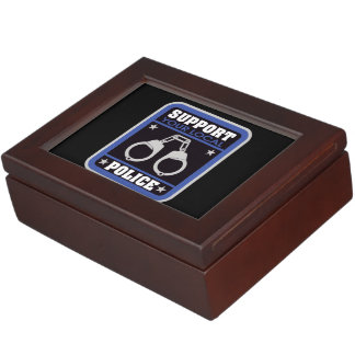 Support Local Police Keepsake Box