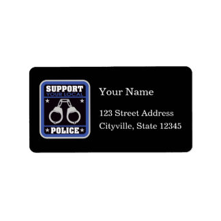 Support Local Police Label