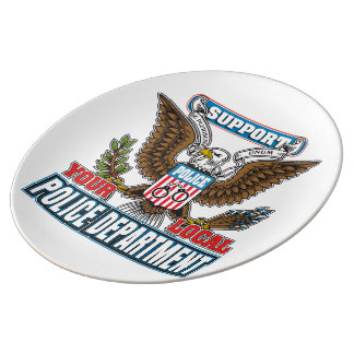 Support Local Police Porcelain Plate