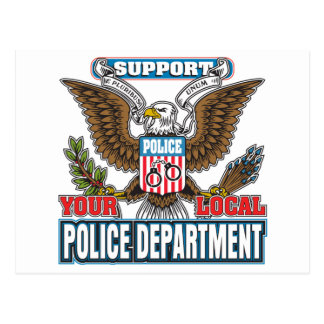 Support Local Police Postcard