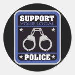 Support Local Police Round Sticker