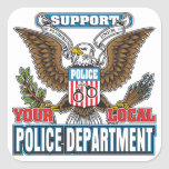 Support Local Police Square Stickers