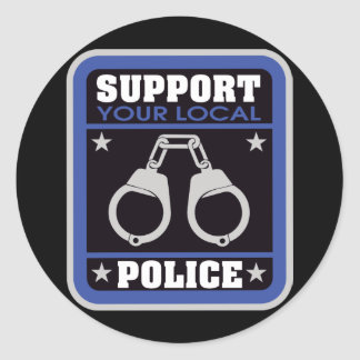 Support Local Police Classic Round Sticker