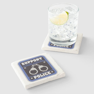Support Local Police Stone Coaster