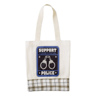 Support Local Police Zazzle HEART Tote Bag