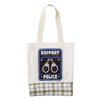 Support Local Police Zazzle HEART Tote Bag
