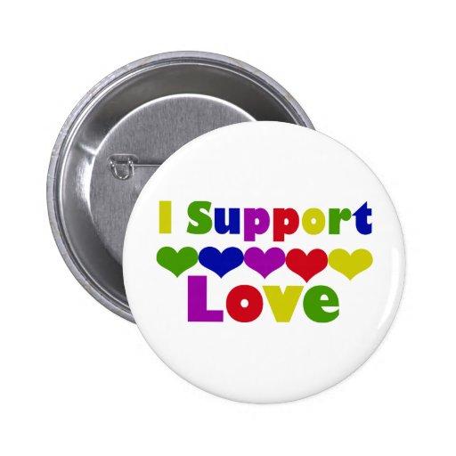 Support Love 2 Inch Round Button