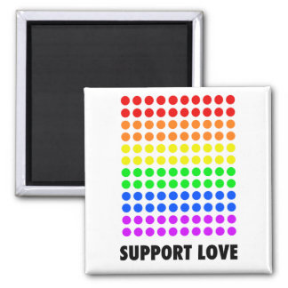 Support Love 2 Inch Square Magnet