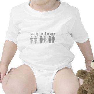 support-love baby bodysuits