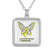 Support/Love/Believe...Endometriosis Silver Plated Necklace