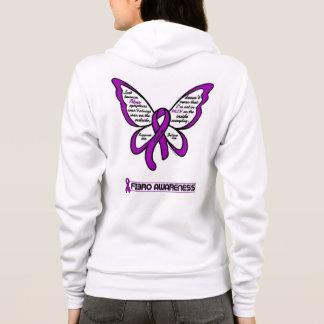 Support/Love/Believe...Fibro Hoodie
