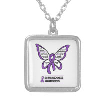Support/Love/Believe...Sarcoidosis Silver Plated Necklace