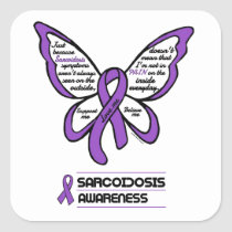 Support/Love/Believe...Sarcoidosis Square Sticker