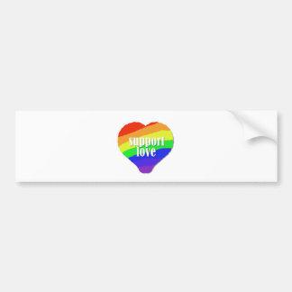 Support Love Bumper Sticker