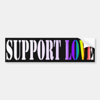 Support Love Bumper Sticker